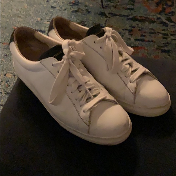 premium selection cc6ac 7b149 Zespa leather white navy sneaker 39